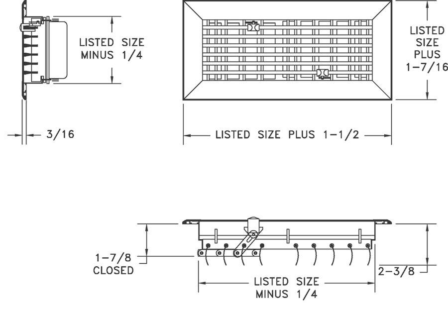 Al833 Extruded Aluminum Floor Diffuser Lima