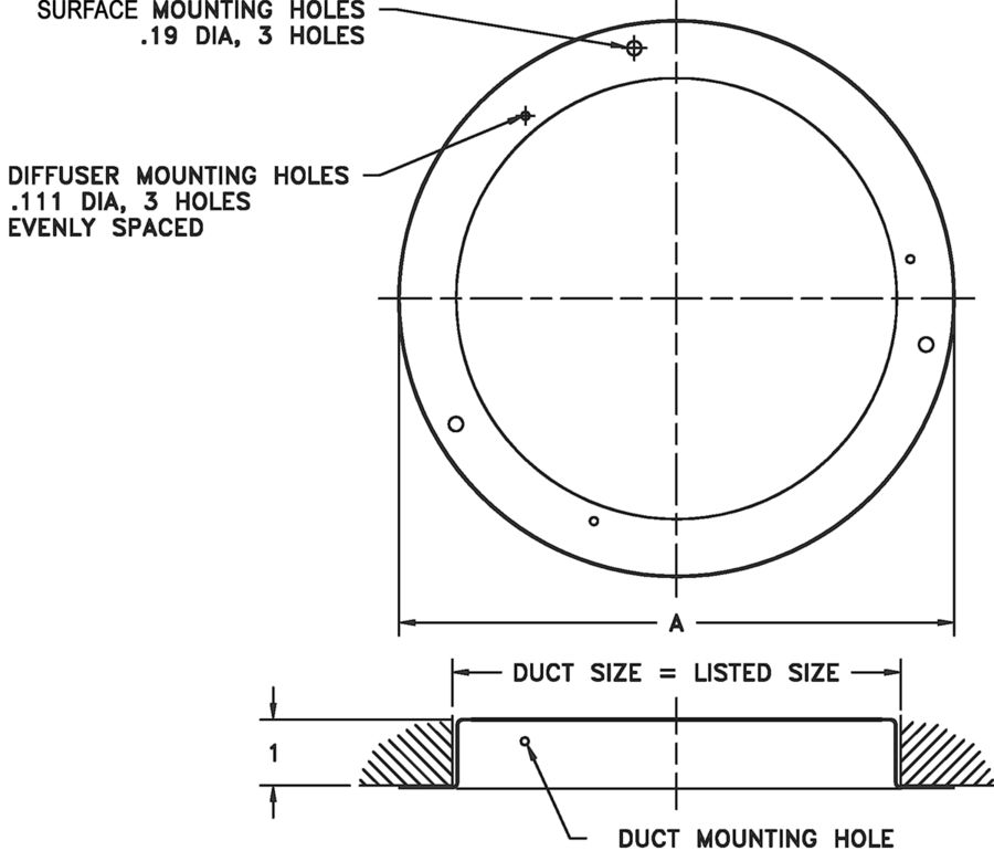 Drawings for 156-Duct Ring for Model 150