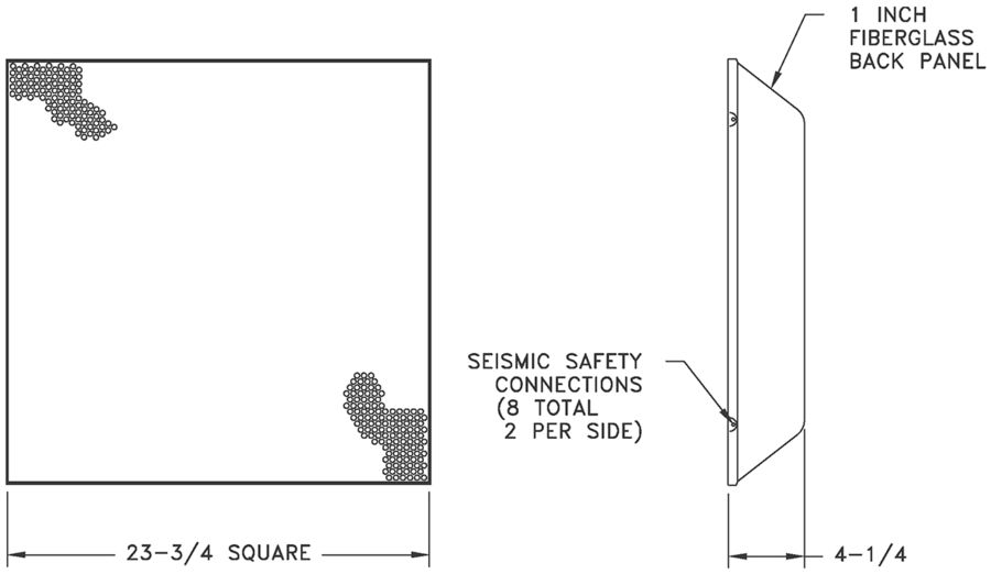 4230 - Perforated Return - Dimensional Drawing