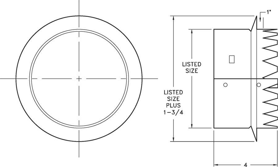 R12 - Tab Collar - Dimensional Drawing