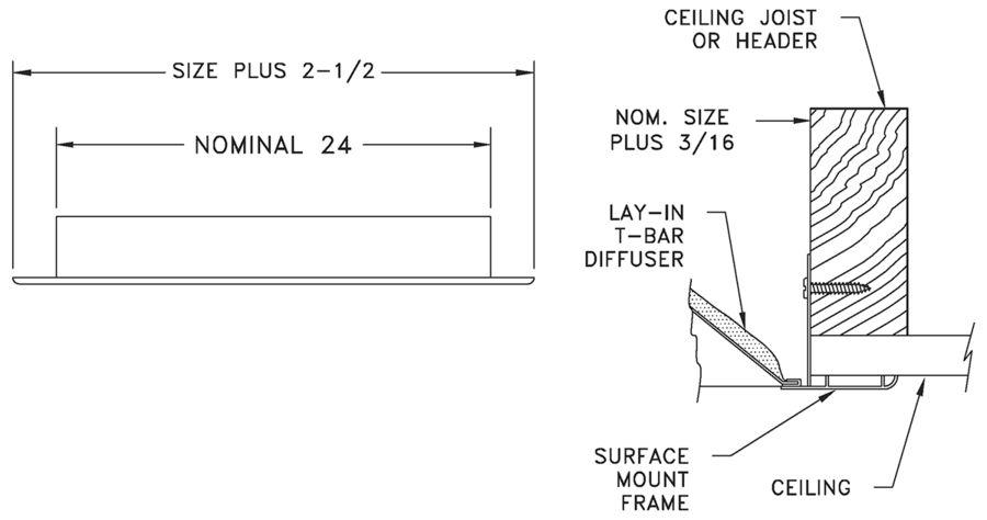 AL10PF - Plaster Frame - Dimensional Drawing