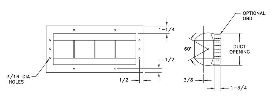 AL2900 - High-Volume Rotating Industrial Drum Louver - Dimensional Drawing